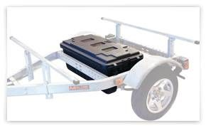 I like this concept... U.S. Rack, Inc. Kayak Trailer