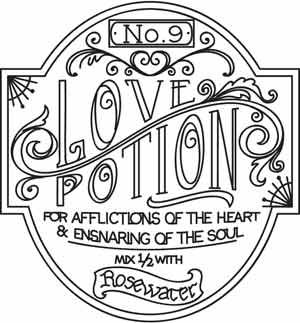 Love Potion Apothecary Label design (UTH3333) from UrbanThreads.com