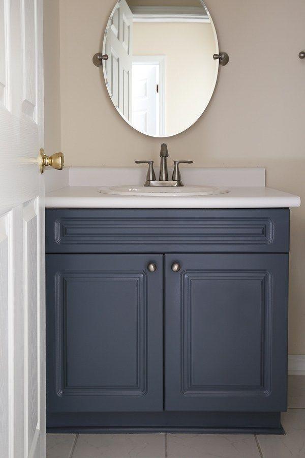 The Elegant House Painting A Laminate Bathroom Vanity Painted Vanity Bathroom Cheap Bathroom Vanities Bathroom Cabinets Diy