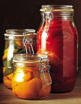 conserve de poivrons grillés au vinaigre
