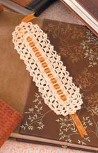 Beautiful thread crochet bookmark