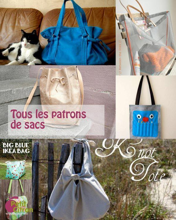 La liste de tous les patrons & DIY de sacs