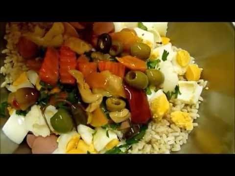 Салат из Риса салаты быстрого приготовления Итальянский рецепт