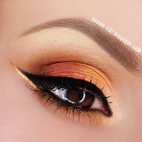 Orange and gold #eyes #eye #makeup #bright #bold #dramatic