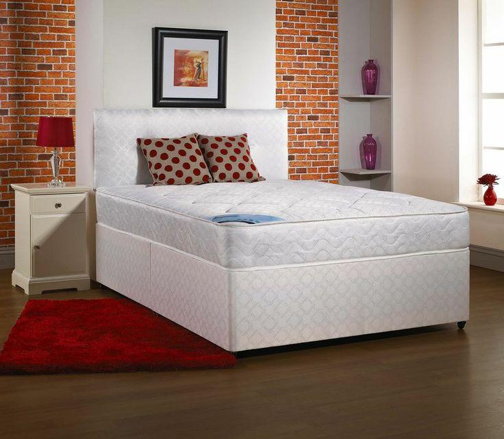 3ft Single Light Quilt Storage Divan Bed Base Mattress Slide