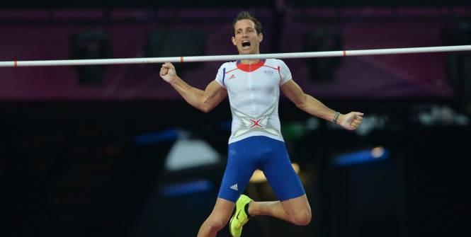 Renaud Lavillenie,  champion olympique à la perche 2012