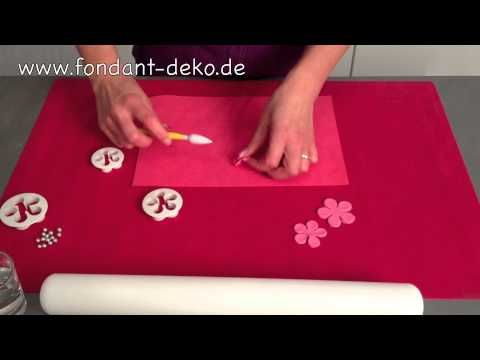 Ausstecher / Silikonform  zur Torten Dekoration - YouTube