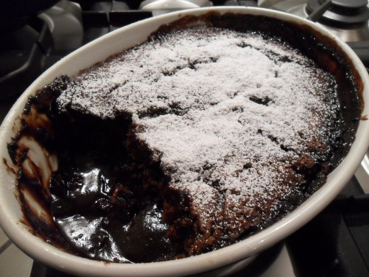 Stephanie's chocolate self-saucing pudding