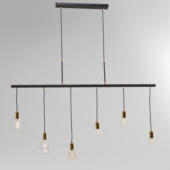 Lustre Atat de simpla si totusi diferita, lustra Pole este realizata din 6 becuri suspendate prinse in console aurii pentru un efect de eleganta. In...