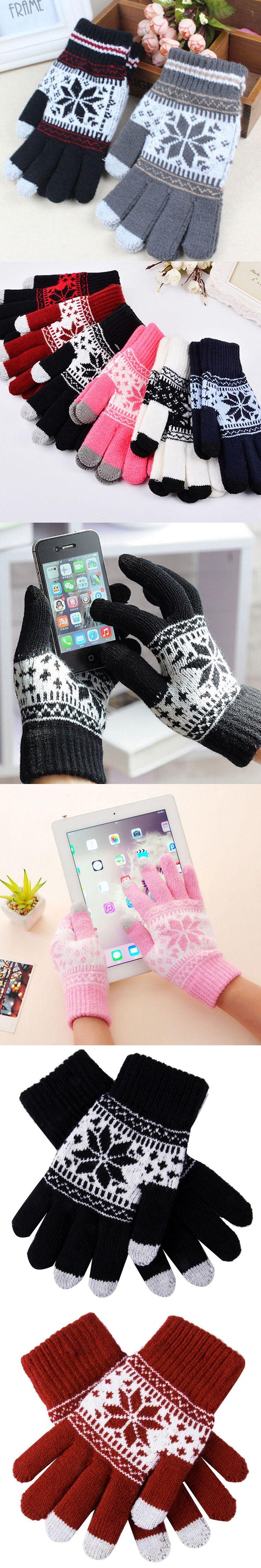 Warm Winter Gloves Knitted Touch Gloves Men Women Gloves Touch Screen Glove Party Supplies Women