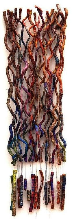 artafrica: Eva Obodo ( Evaristus Chukweumeka Obodo), Nigeria - Looks like sticks wrapped in yarn.