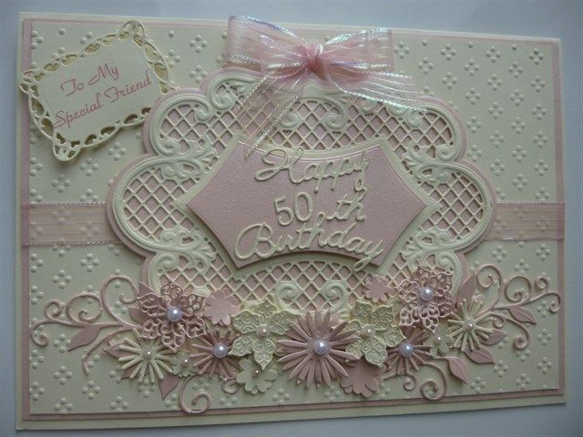 Last cream 50th Birthday card. | docrafts.com