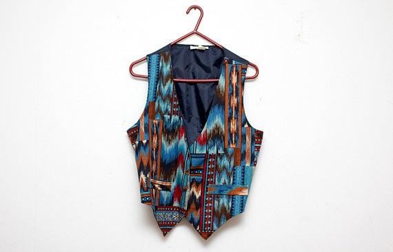 Southwestern Vintage Vest    www.sopasse.etsy.com