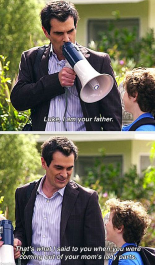 Modern Family could've pinned this to so many boards but I could see joaquin doing this lol