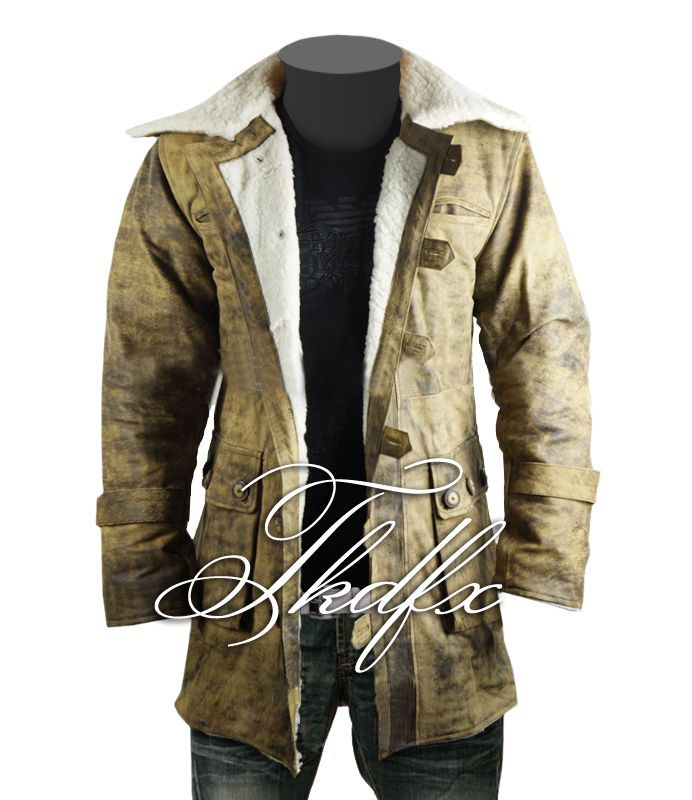 """This Trench Coat is made exactly as original-A Grade leather. Its worn by Bane (Tom Hardy) in the movie called """" DARK KNIGHT RISES """". It has been painstaking to design and manufacture it with all attention to details.   eBay!"""