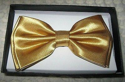 Shiny Gold Adjustable Adjustable Tuxedo Bow Tie -Gold Adjustable Bow Tie-New!