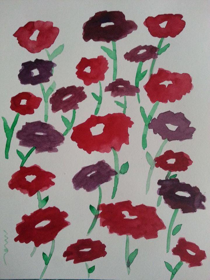Ilustración acuarela flores Mónica Jiménez