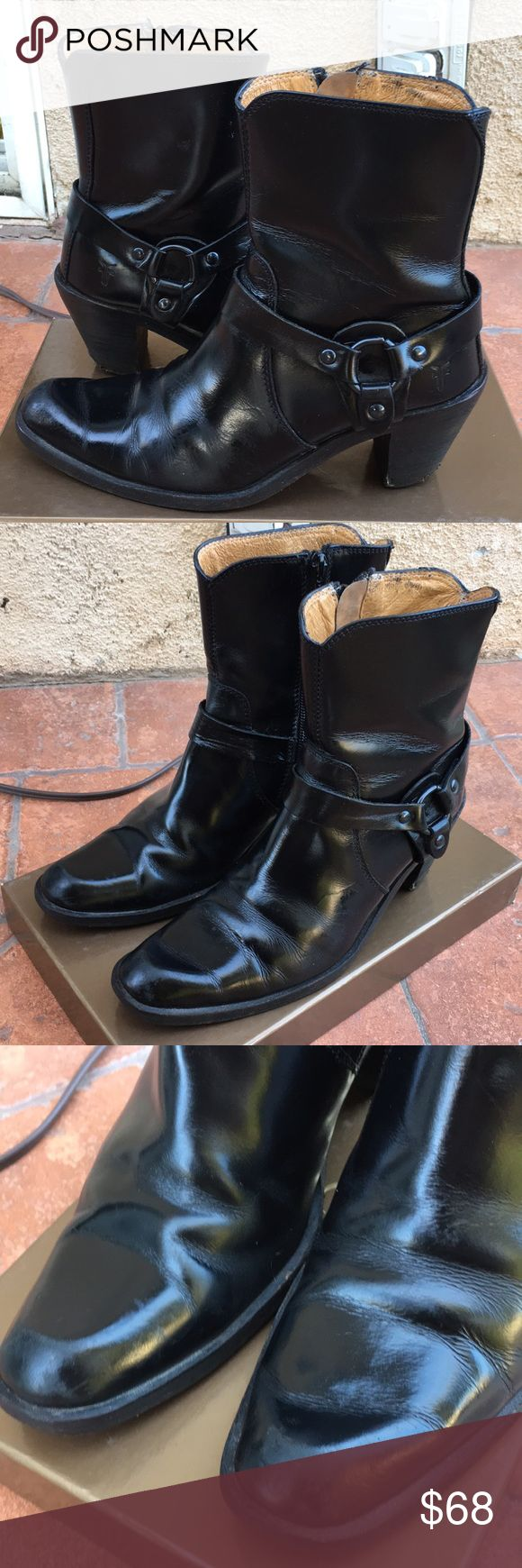 Frye tabitha harness women's black boots 5.5b Retail for $328 . Pre owned but sill in good shape Frye Shoes Ankle Boots & Booties