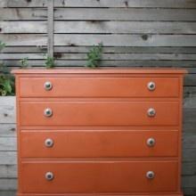 Urban tastes: Vintage Orange Dresser