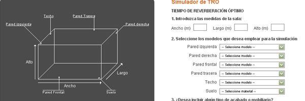 Acondicionamiento acústico de estancias. Calcula el Tiempo de Reverberación Óptimo con este simulador online