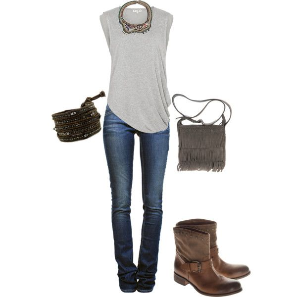 A fashion look from May 2012 featuring Reiss t-shirts, Étoile Isabel Marant jeans and Minnetonka shoulder bags. Browse and shop related looks.