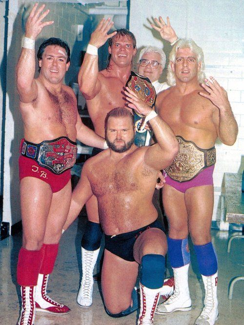 The Four Horsemen (Tully Blanchard, Arn Anderson, Lex Luger, JJ Dillon and Ric Flair): 1987