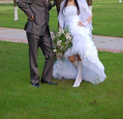 Hochzeitskleid Ballkleid Brautkleid Damenkleid Gr. S Abnehmbar 2 In 1 ...