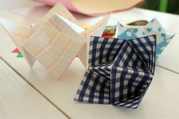 Recipientes papel origami