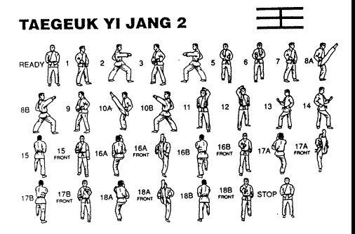 taegeuk 2 jang academic taekwondo taekwondo