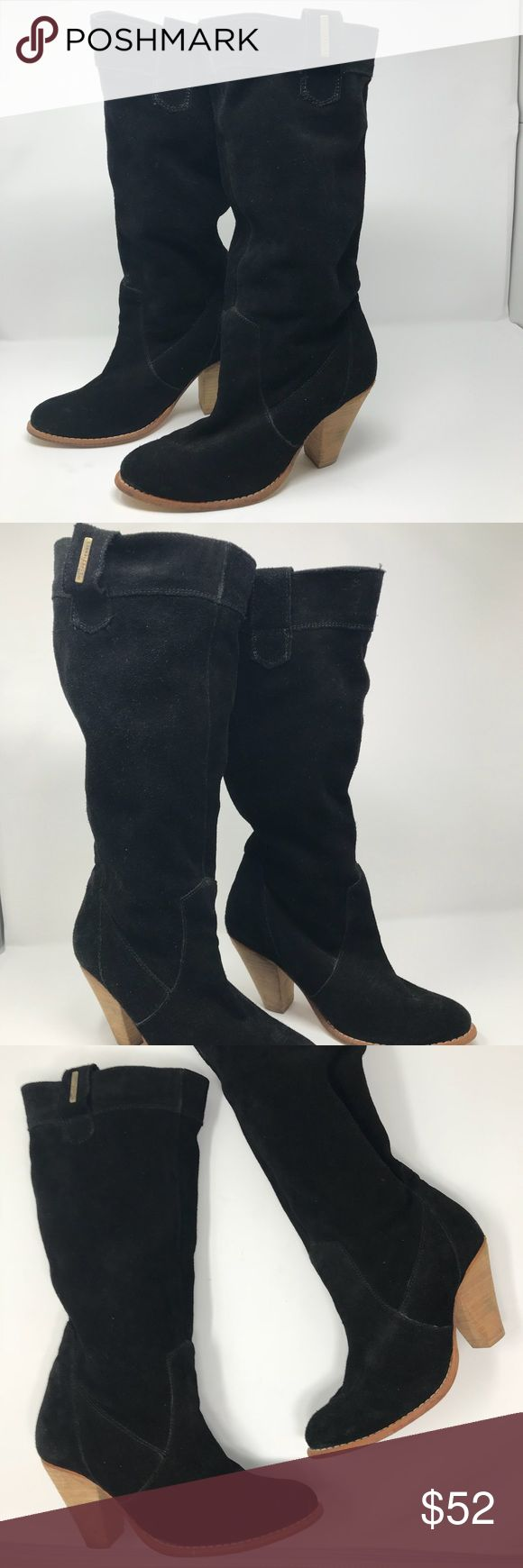 Les Tropeziennes Black Suede booties size 37 Les Tropeziennes Black Suede booties size 37 in good condition. Made in India. Les Tropeziennes Shoes Heeled Boots