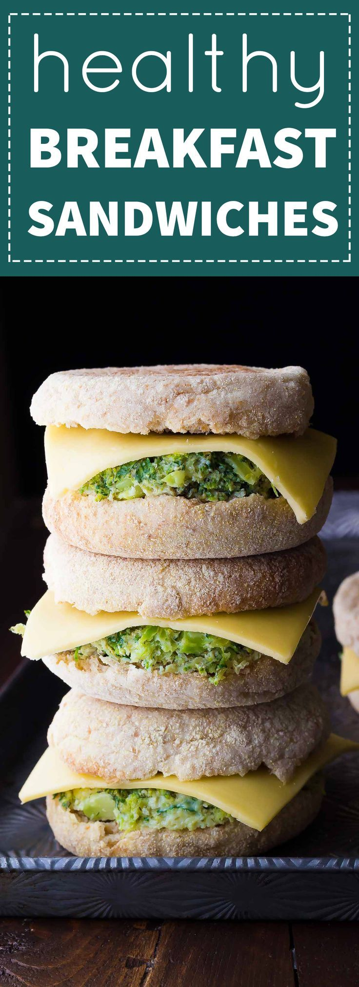 These Healthy Freezer Breakfast Sandwiches are packed full of veggies and are the easiest grab-and-go breakfast on busy mornings!