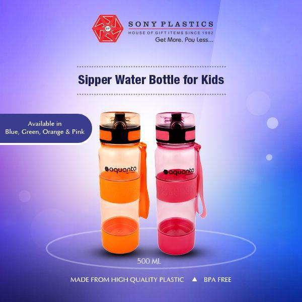 #Aquanta #Sipper Water Bottle for Kids Visit http://www.sonyplastics.com/ for bulk inquiries