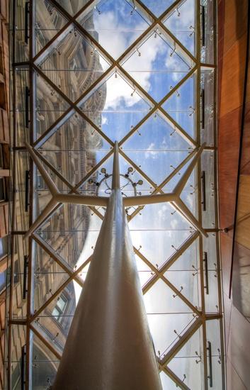 Stainless steel structural glass canopy - Edinburgh Waverley Train Station, Scotland
