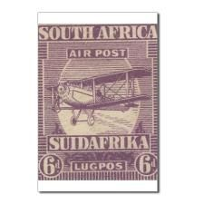 South Africa KGV air 6d Postcards (Package of 8)