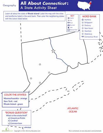 Connecticut Geography  Connecticut Geography And Worksheets