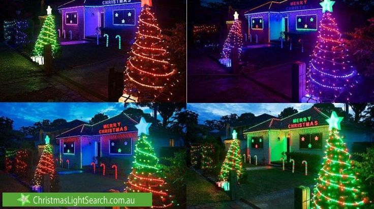 Christmas Lights in Heathcote, NSW. http://xmaslights.co/heathcote