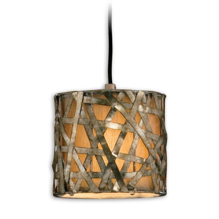 uttermost lighting woven metal drum shade minipendant - Uttermost Lighting
