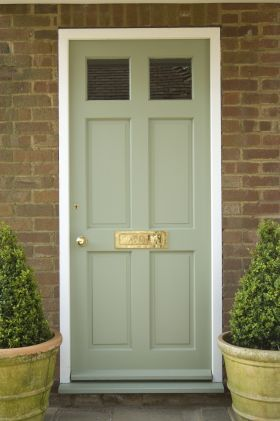 Farrow & Ball's Press Office :: download free high res press images :: Farrow & Ball :: Lichen Front Door images