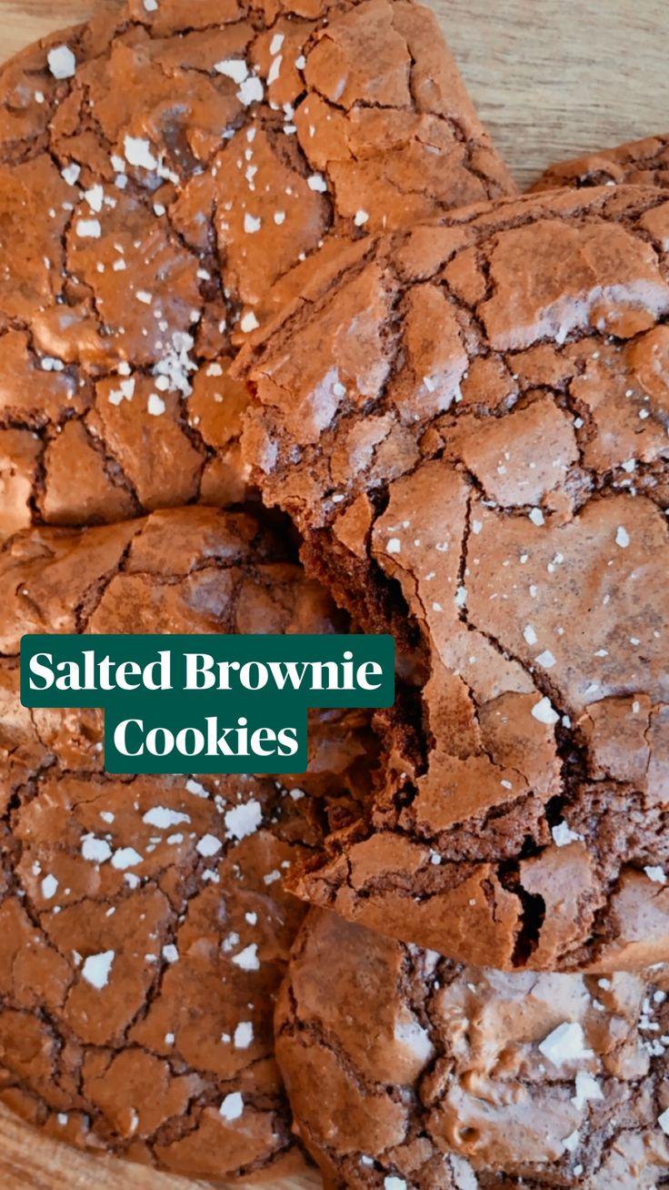 Chex Mix Recipes, Fun Baking Recipes, Sweet Recipes, Yummy Cookie Recipes, Brownie Cookies, Baking Cookies, Easy Desserts, Dessert Recipes, Easy Delicious Desserts