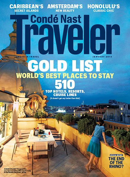 Conde Nast Traveler magazine is wonderful eye candy for those who love to travel or just armchair travel. <3