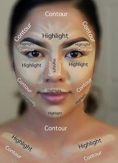 """Makeup Tutorial ‖ Using a highlighter with lighter shades, to help reflect light and contouring with darker shades, to detract the light. Highlight and…‖ Discover how  to Get Free """"Mieoko Kabuki Brush"""" ‖"""
