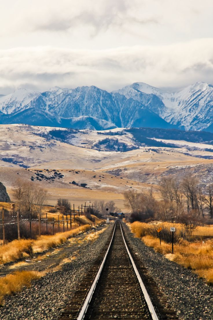 Tracks to the mountains,Montana ♥ ♥ www.paintingyouwithwords.com