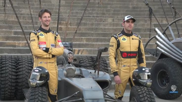 Romain Grosjean, Pastor Maldonado and Mad Max Cars (VIDEO)