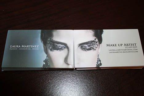 Make Up Artist Business Card 2 sided idea