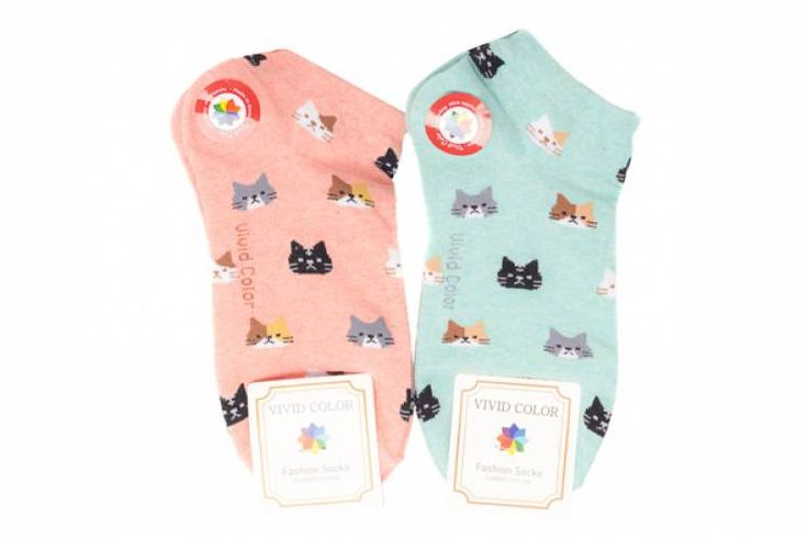 The cutest kitty ankle socks to keep your toes fancy. One size fits all. Sold as one pair.