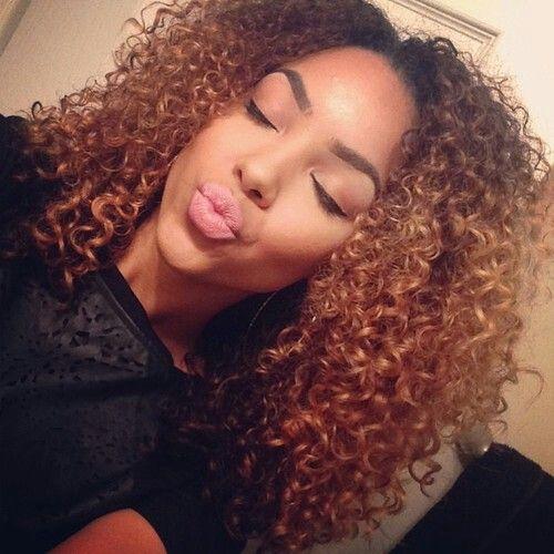 Ombré curly hair. Curls, naturally curly hair
