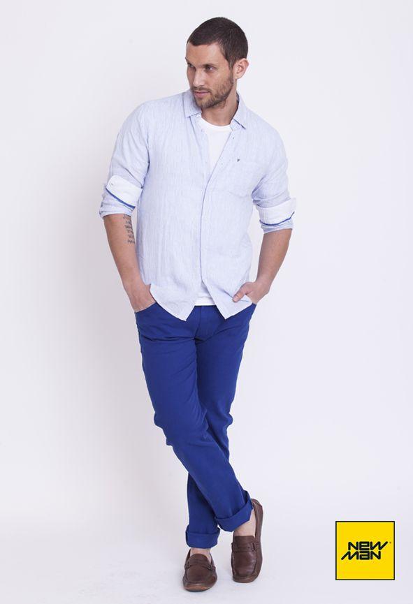 New Man LookBook S/S'15 #Blue #LightBlue #Casual www.newmanchile.cl
