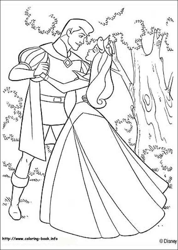 Sleeping Beauty Coloring Pages Singing Princess Aurora And Prince