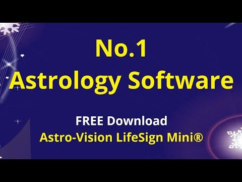 No 1 Astrology Software | Free Download | Astro-Vision