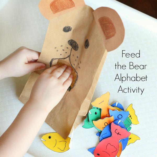 Learn the alphabet with a bear activity.